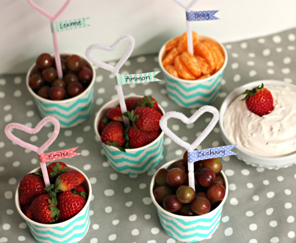 Fruit Cups and Dip