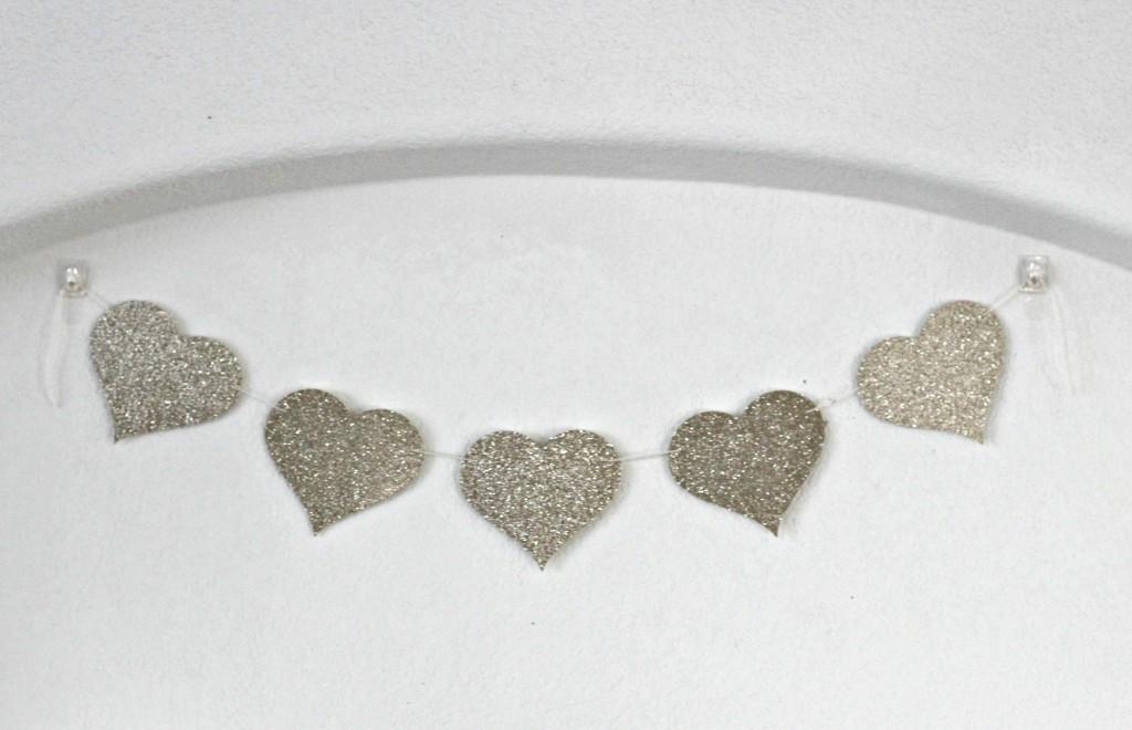 Glitter Heart Banner