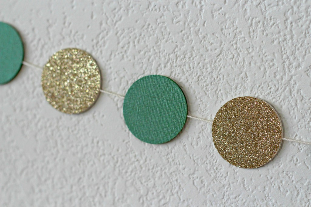 Gold and Green Mantel Circle Garland