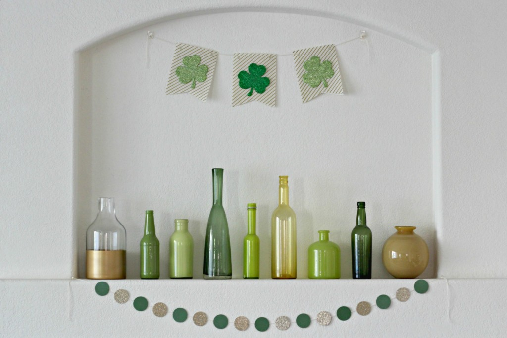 Gold and Green Shamrock Mantel