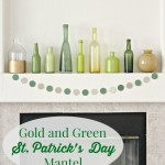 Gold and Green St. Patrick's Day Mantel