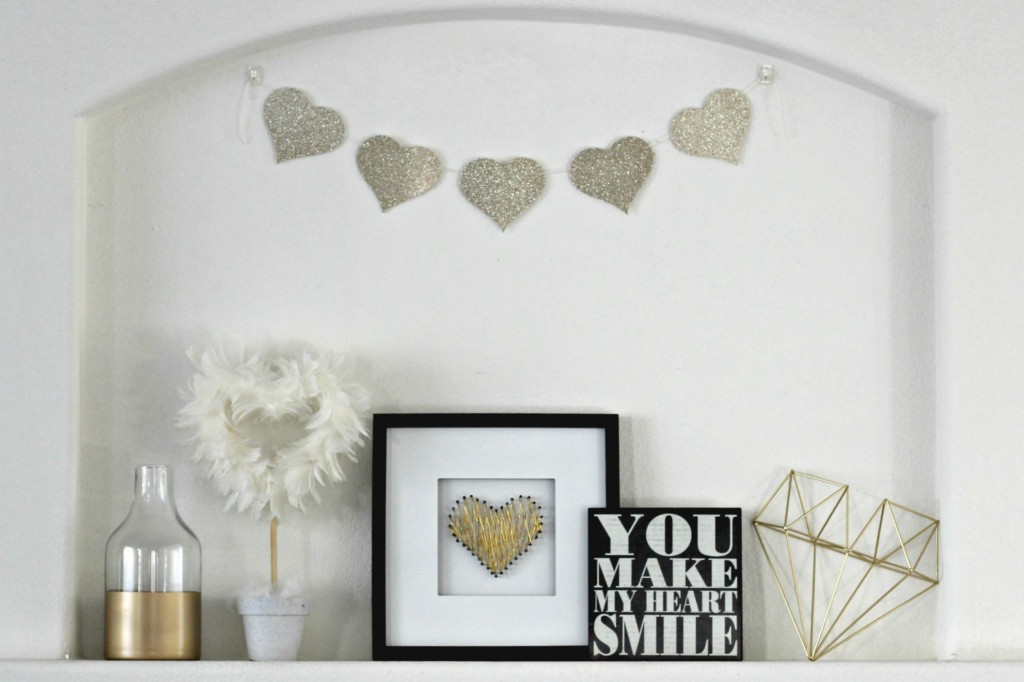 Gold and White Mantel