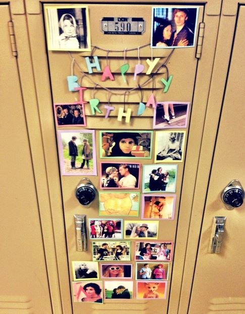 Locker Decorating