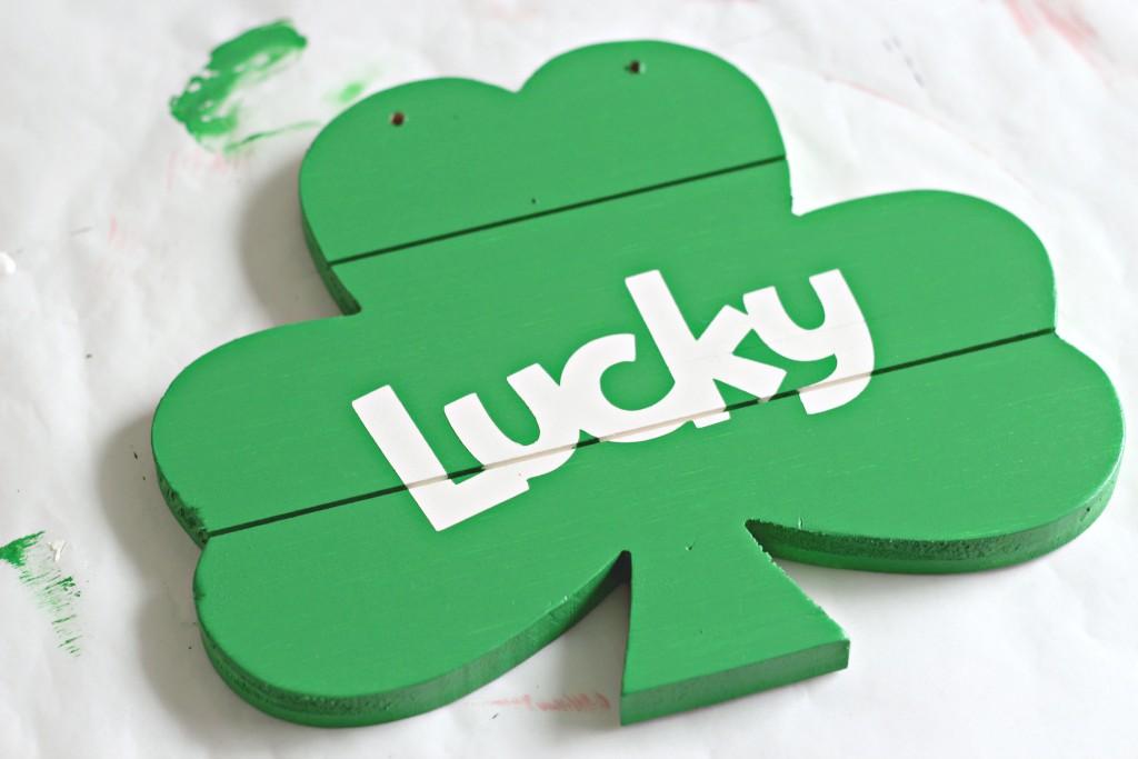 Lucky Shamrock green paint layer