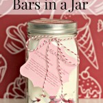 M&M Cookie Bars in a Jar