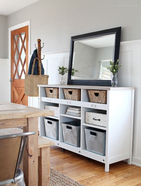 Multi Functional Entryway Storage Unit