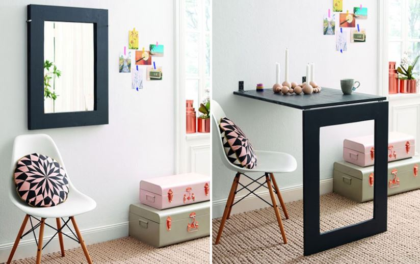 Multi Functional Mirror Table