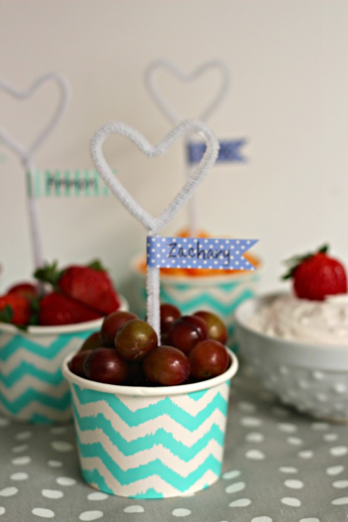 Pipe Cleaner Heart and Fruit Cup