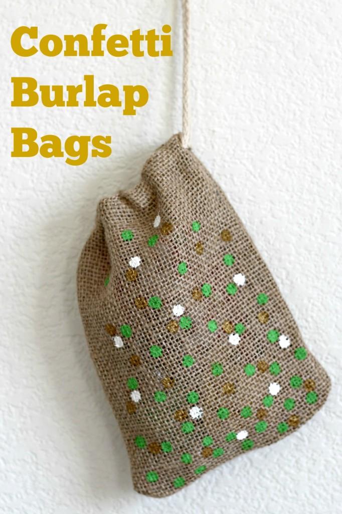 St. Patrick's Day Confetti BurlapBag