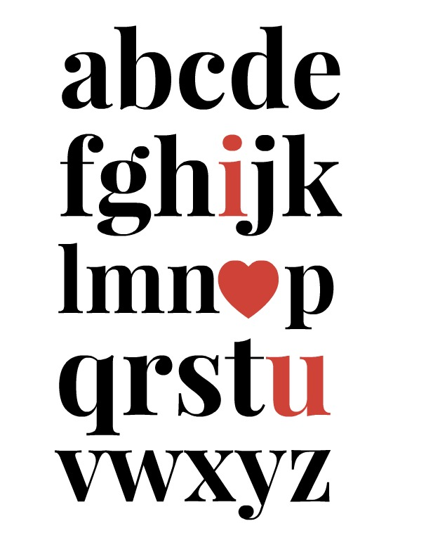 i heart u valentine printable