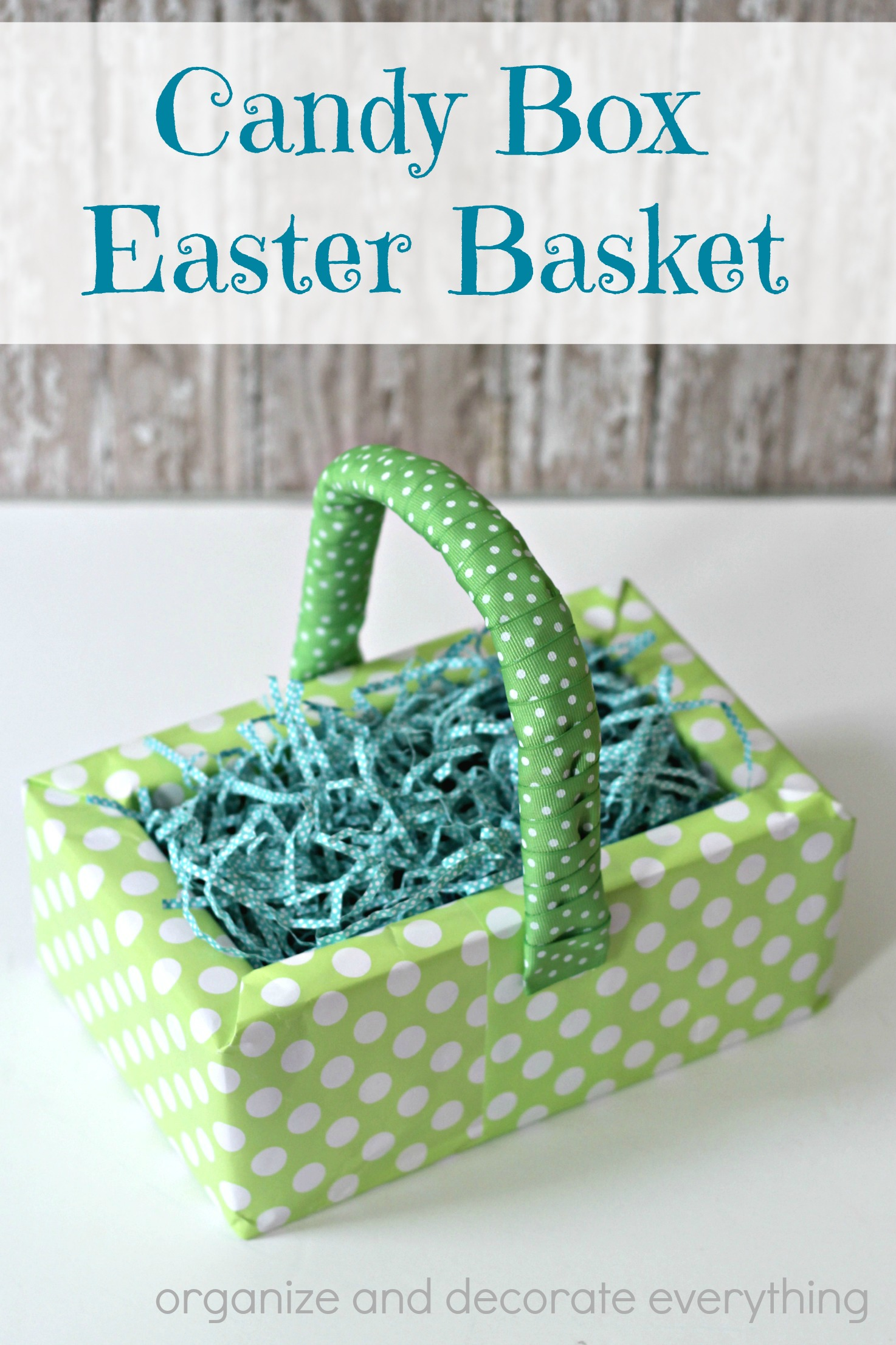 Candy Box Easter Basket Made With Theatre Candy Boxes And