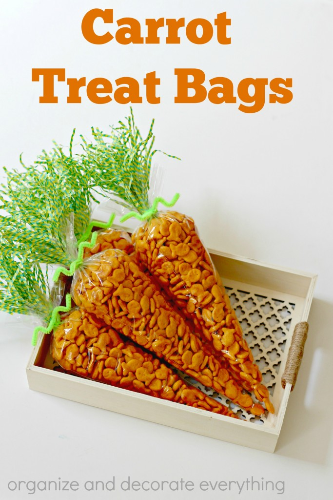 Carrot Treat Bags are cute and a great treat for  the classroom or little Easter gifts