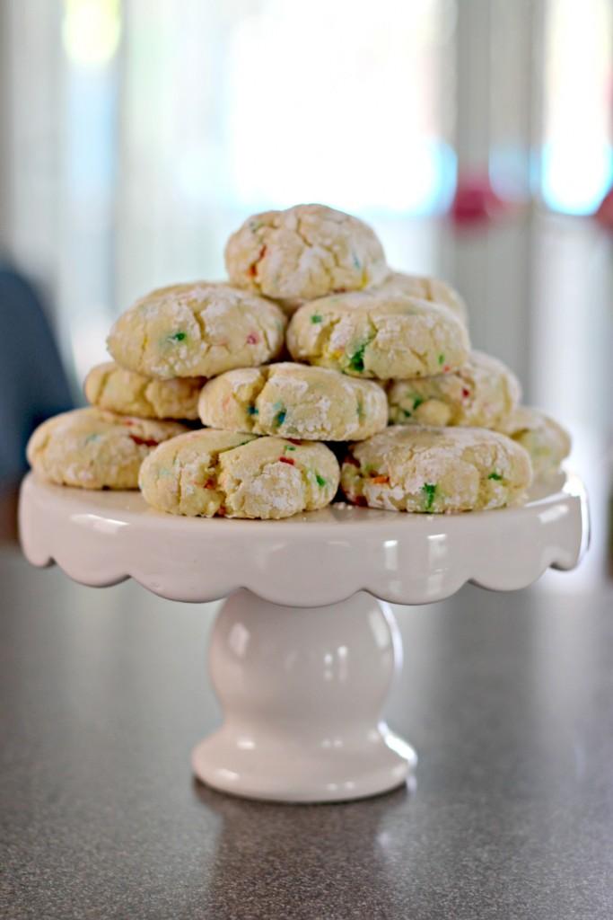 Confetti Cookies Dessert Stand