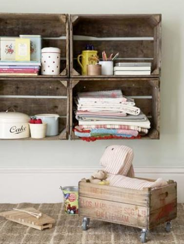 Creative Storage crate shelves
