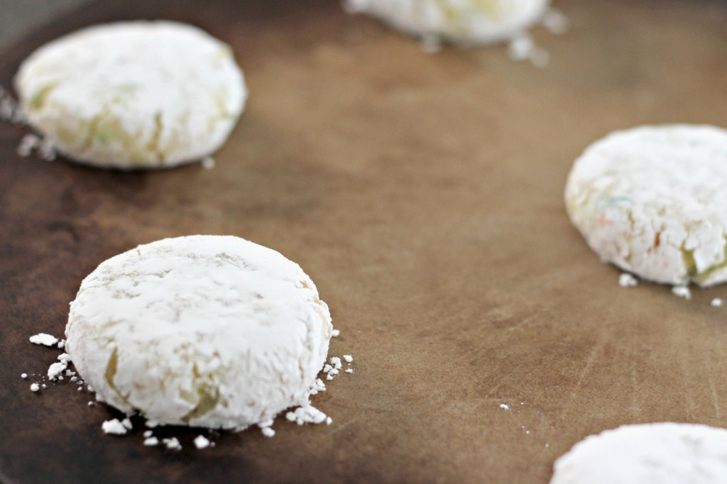Funfetti Cookies flattened