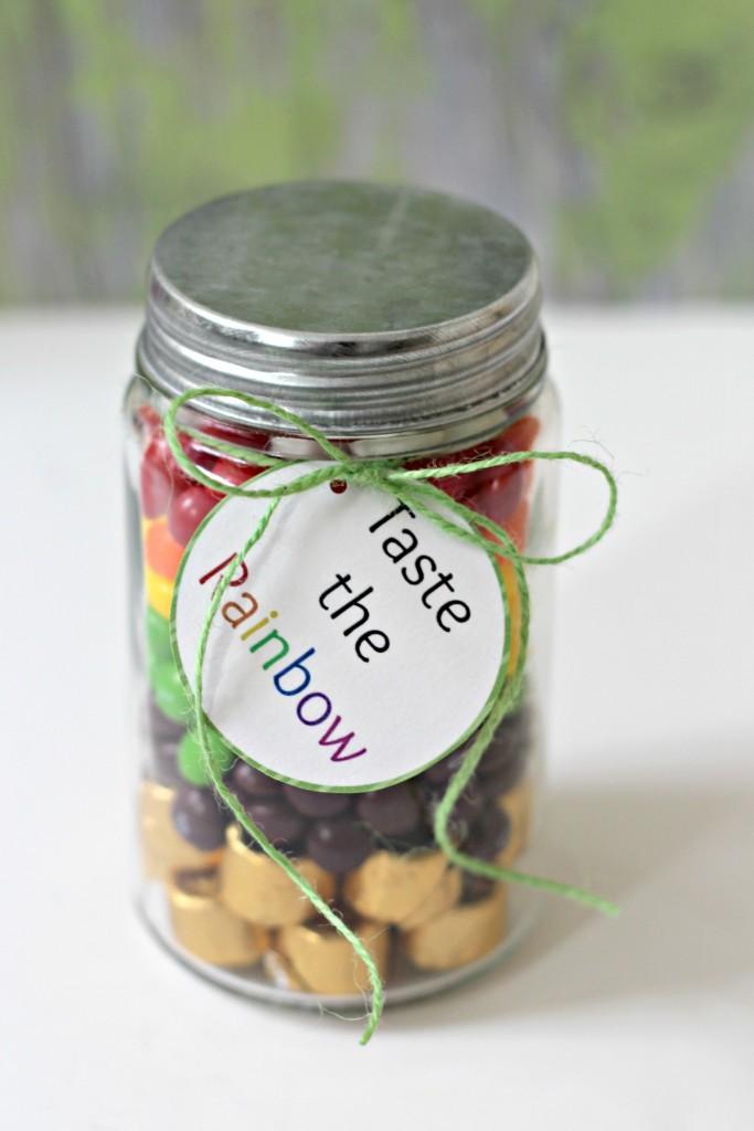 Rainbow Candy Jar Taste the Rainbow