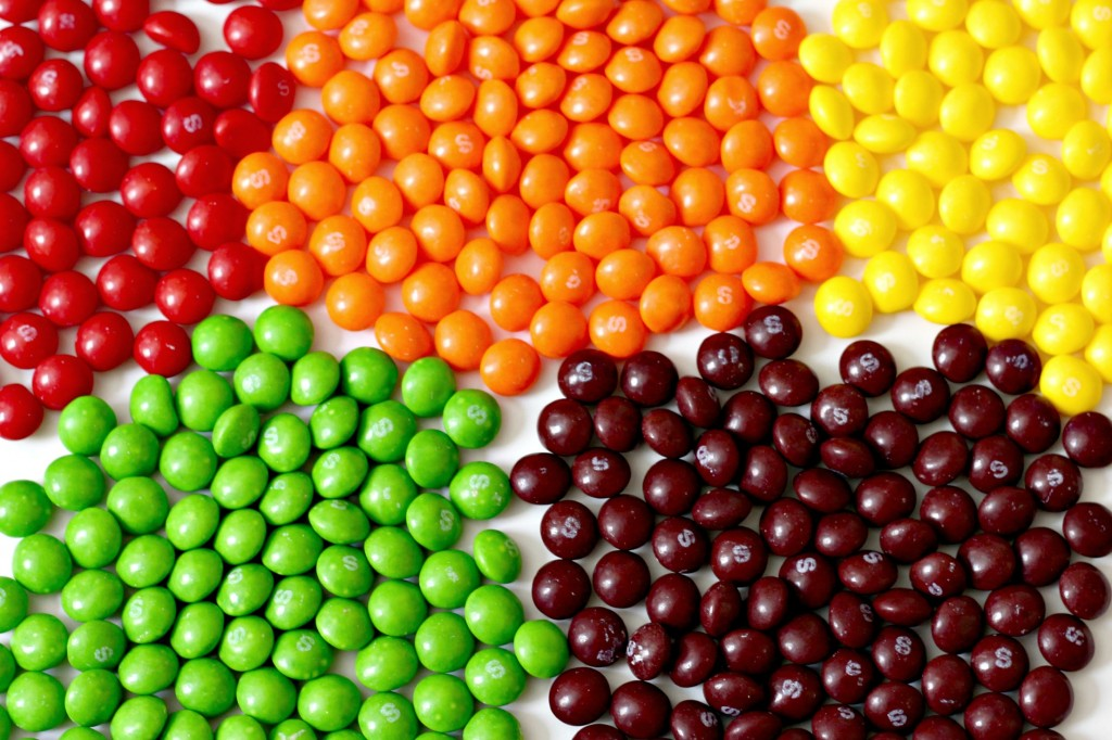 Rainbow Candy Jar skittles