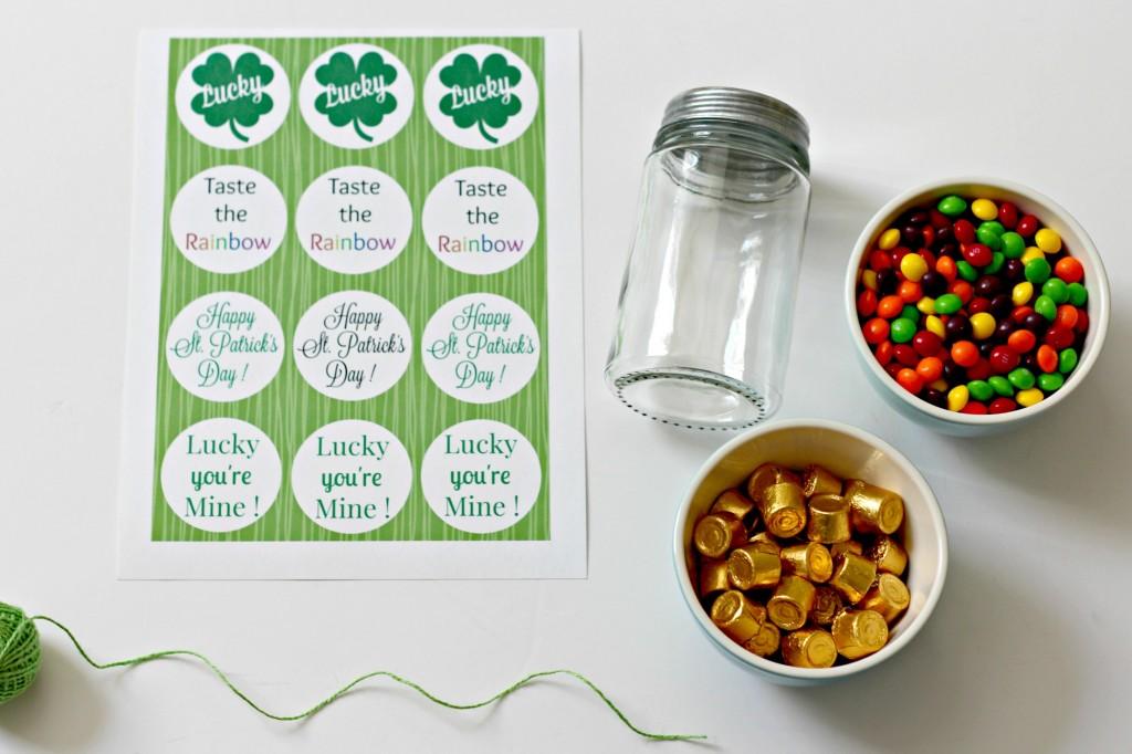 Rainbow Candy Jar supplies