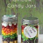 St. Patrick's Day Rainbow Candy Jars