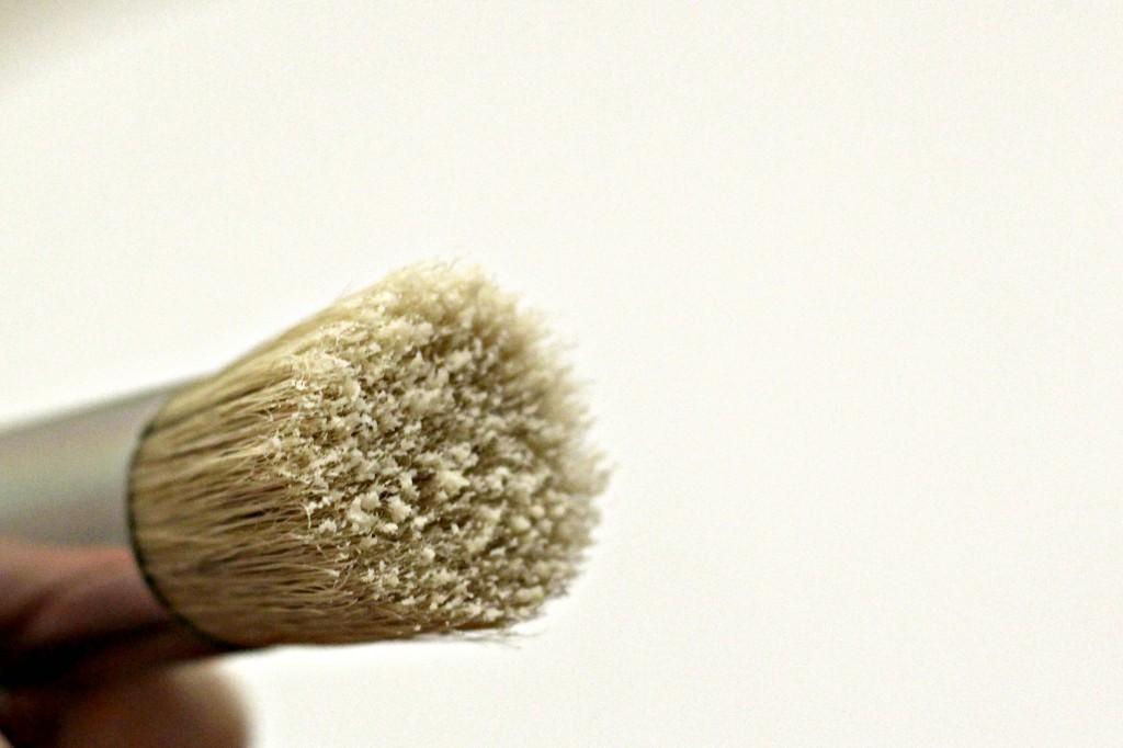 Coffee Table wax on brush
