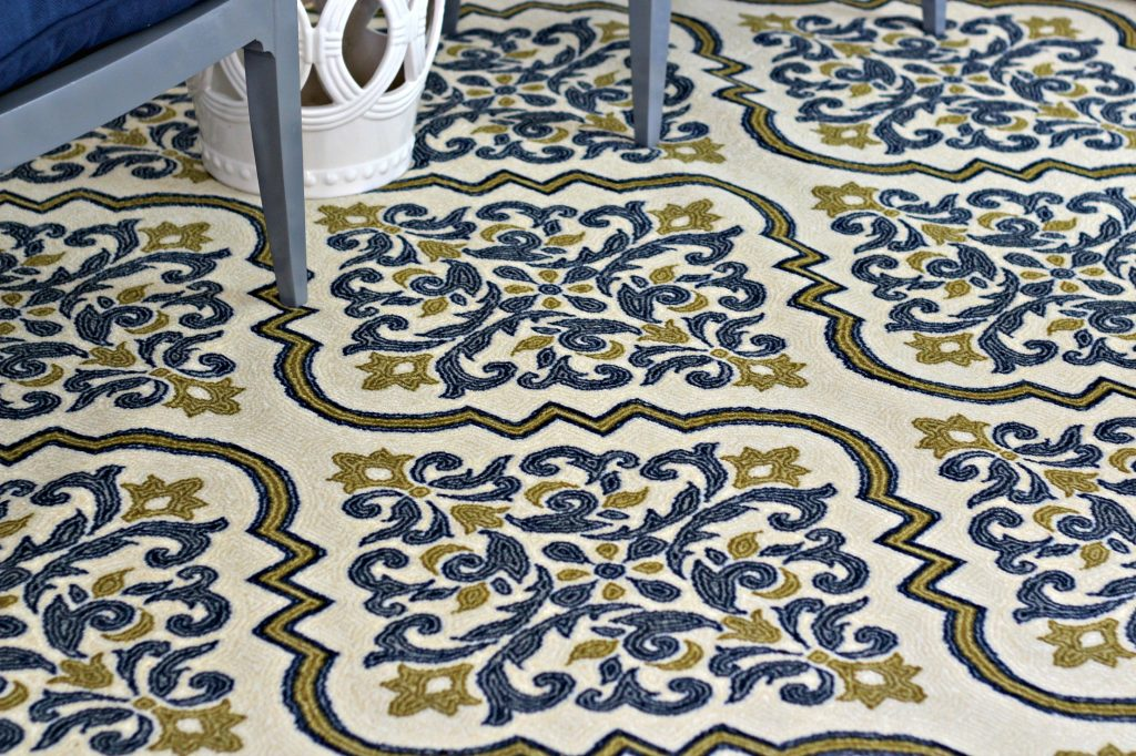 Decorating a Rental patterned rug