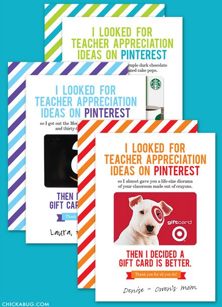 Gift Card Pinterest Card
