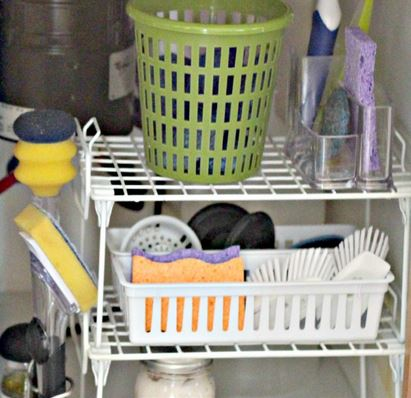 Kitchen Organizing Under the Sink