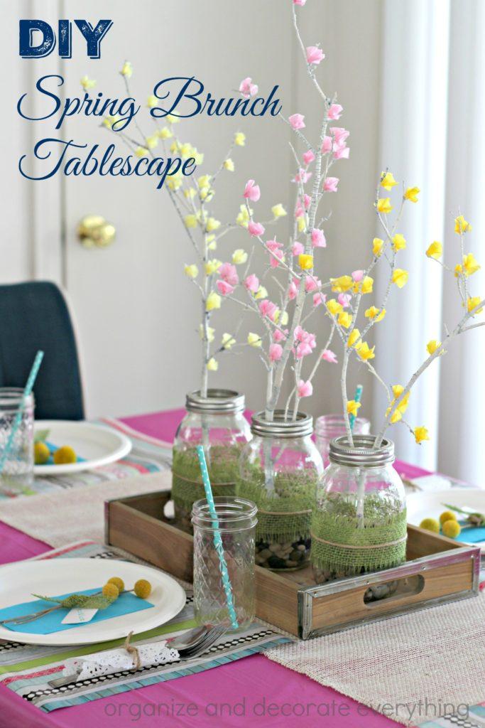 Spring Brunch Tablescape