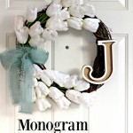 Monogram Tulip Wreath