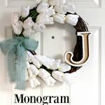 Monogram Tulip Wreath
