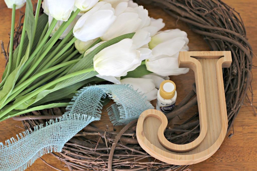 Monogram Tulip Wreath supplies