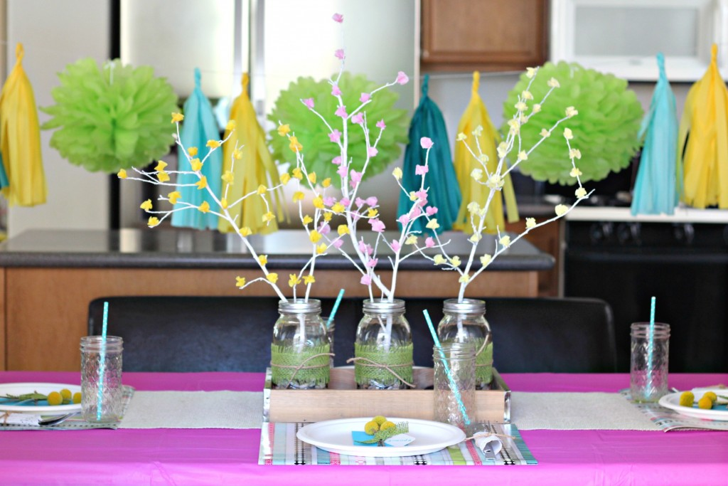 Spring Brunch Table with Tassels and Poms