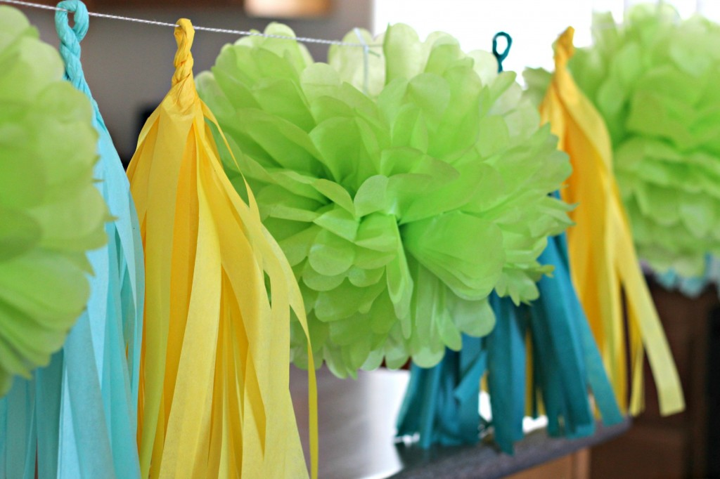 Spring Brunch Tassel and Pom garland