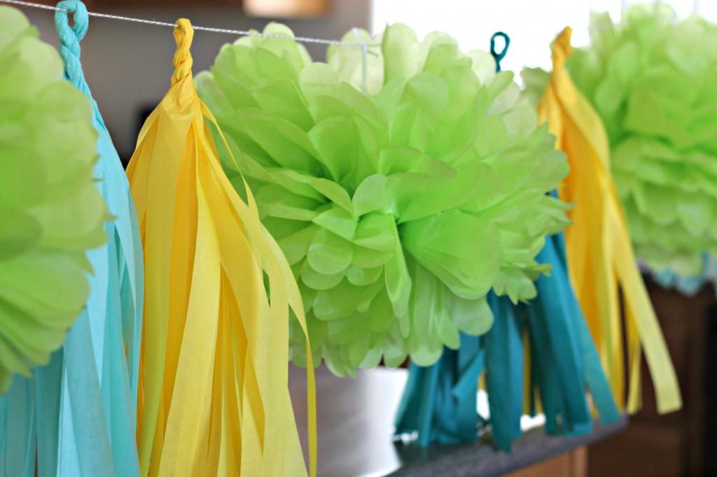 Spring Brunch Tassel and Pom garland