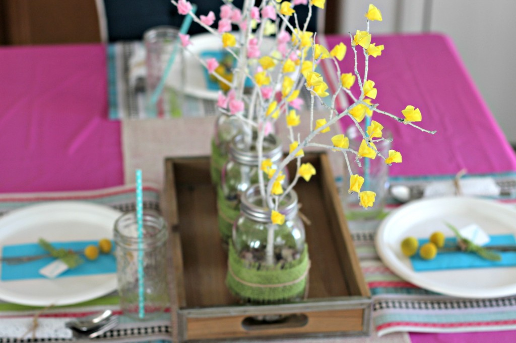 Spring Brunch table centerpiece