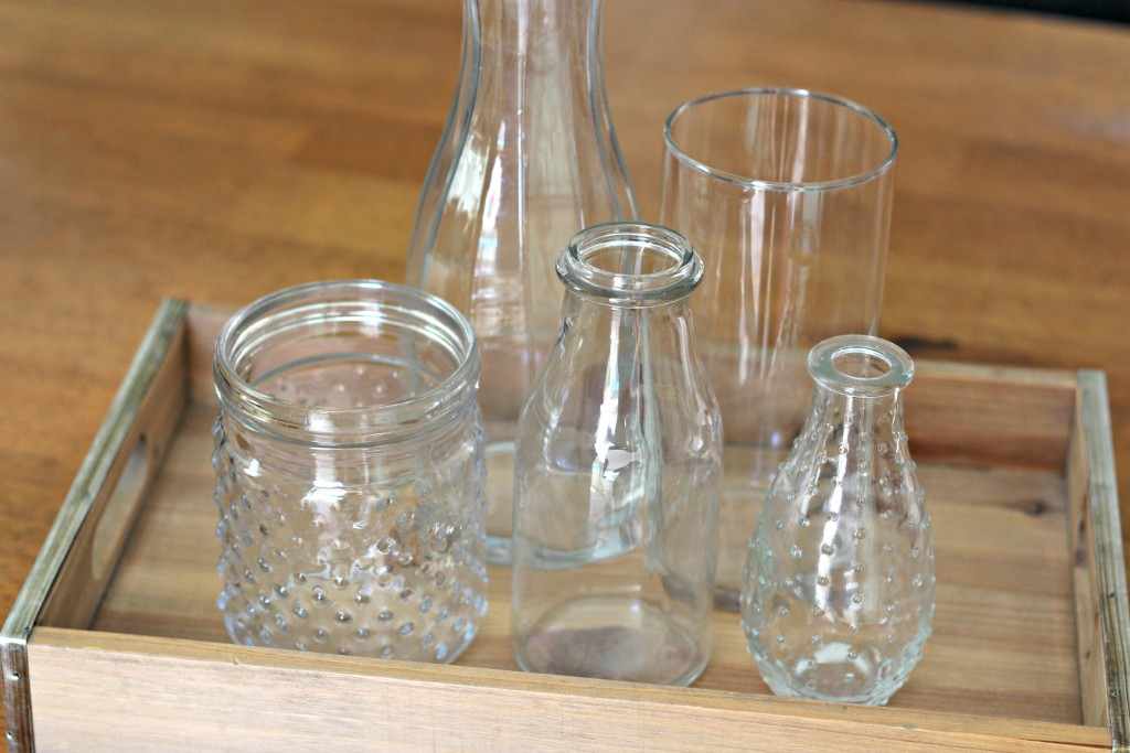 Centerpiece glass containers