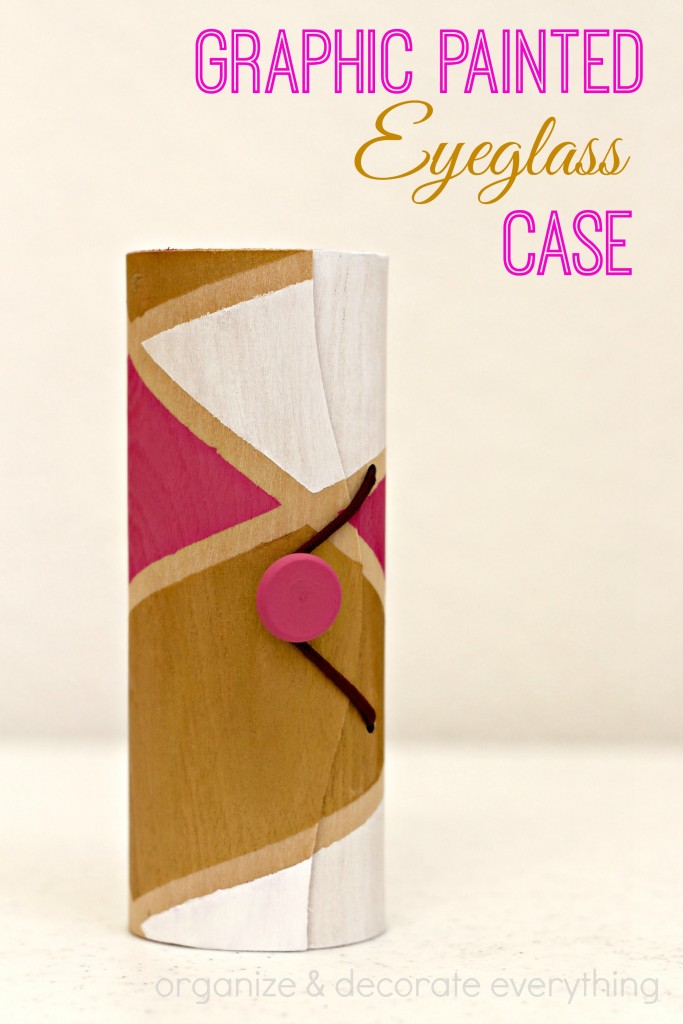 Graphic Painted Eyeglass Case