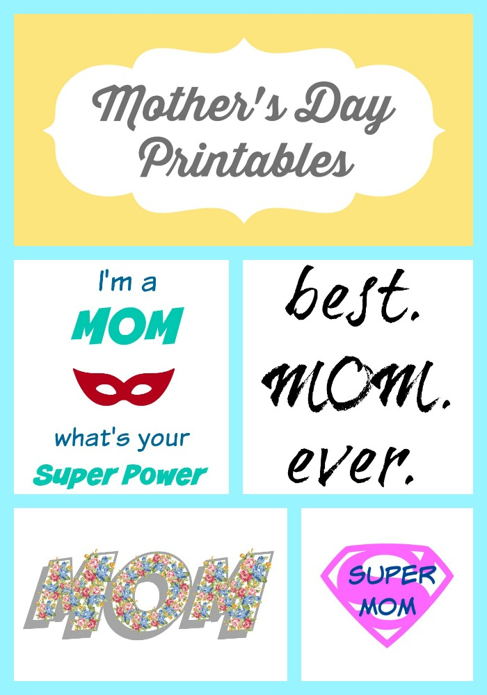 Mother's Day Printables Collage