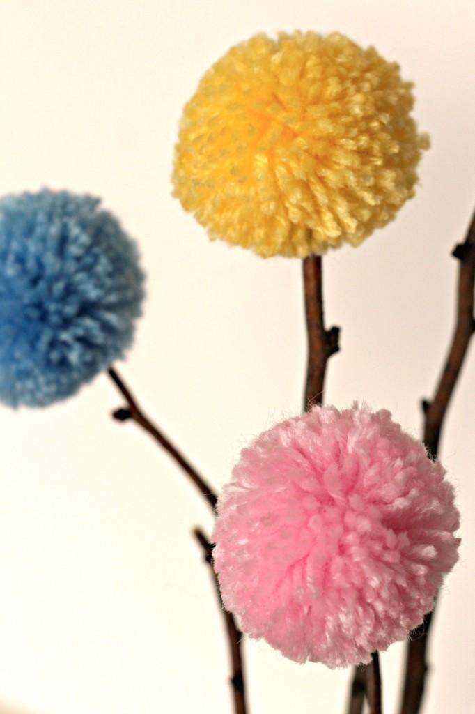 Pom Pom Flowers detail