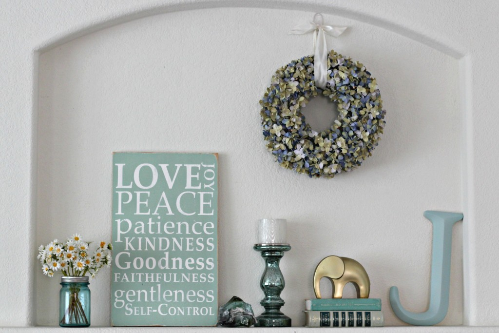 Calming Summer Mantel
