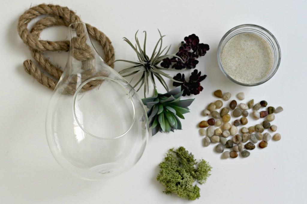 Hanging Succulent Jar supplies