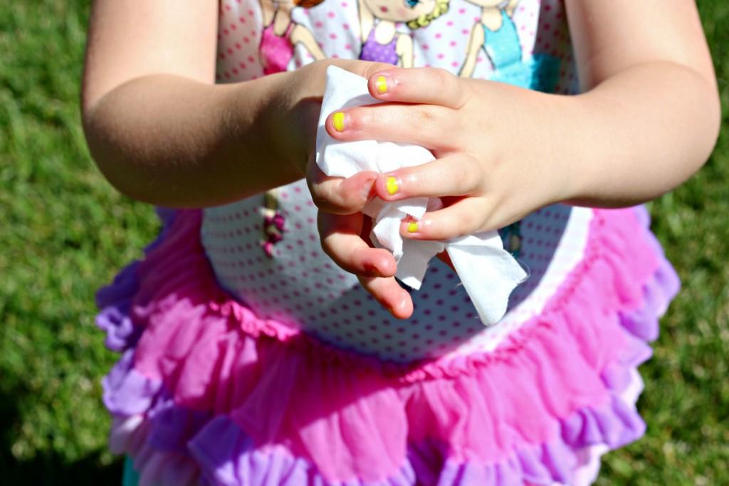 Homemade Ice Cream clean hands