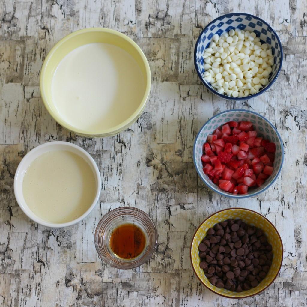 Homemade Ice Cream ingredients