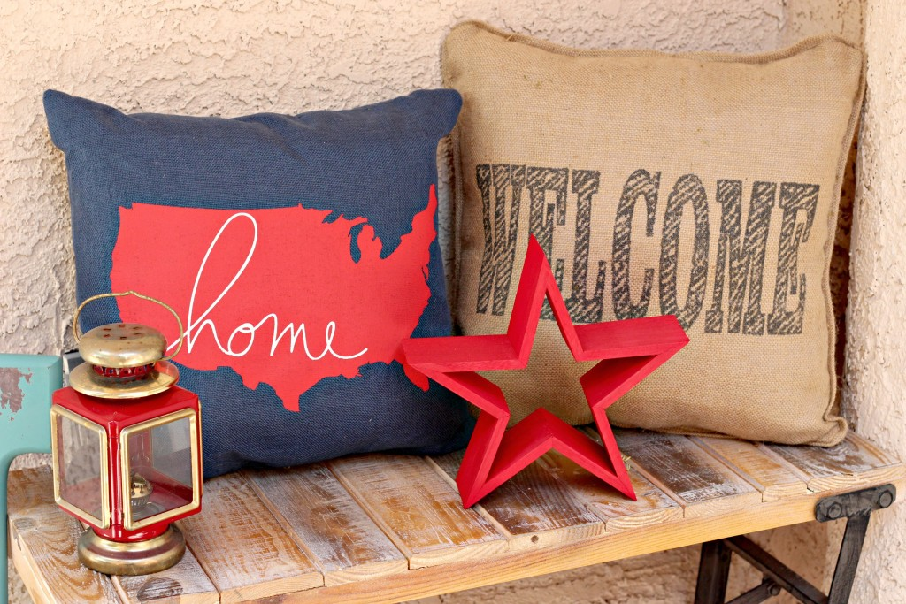 4th of July bench decor