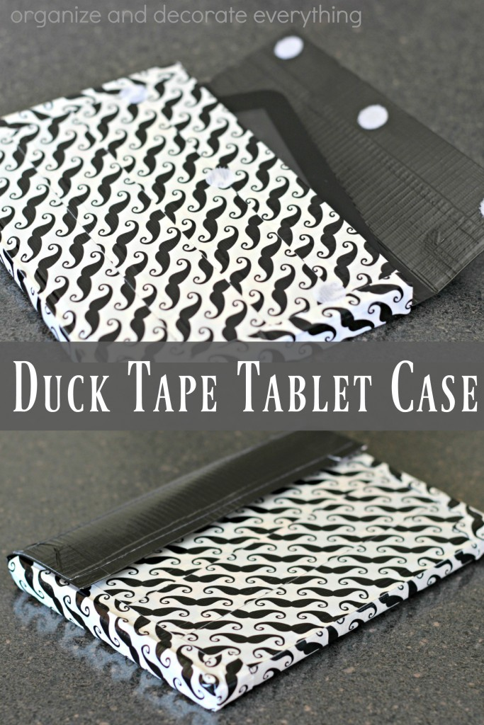 Duck Tape Tablet Case made from a hard cover book