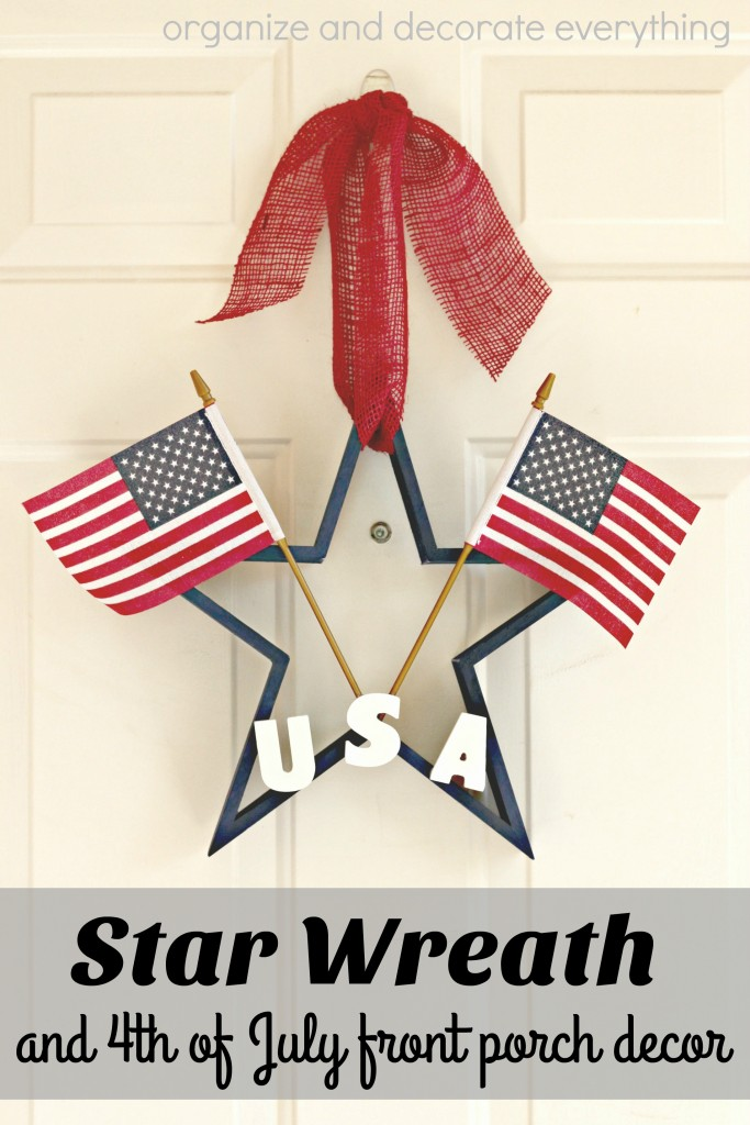 Star Wreath and 4th of July front porch decor