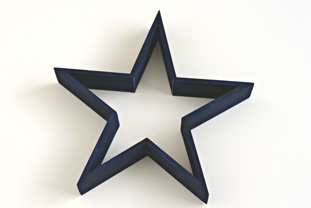 Star Wreath painted with blue chalk paint