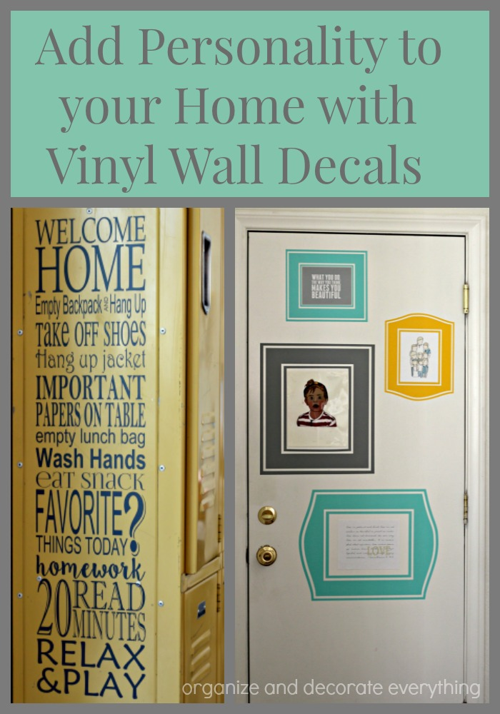 Add personality to your home with Vinyl Wall decals