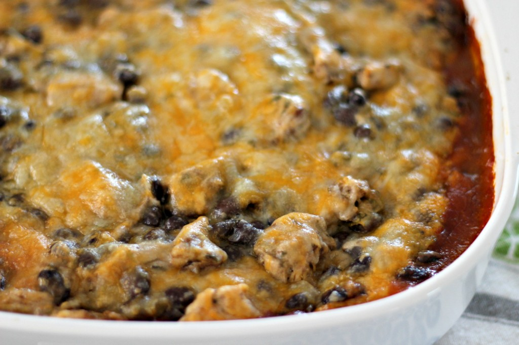 Chicken Enchilada Casserole with Black Beans