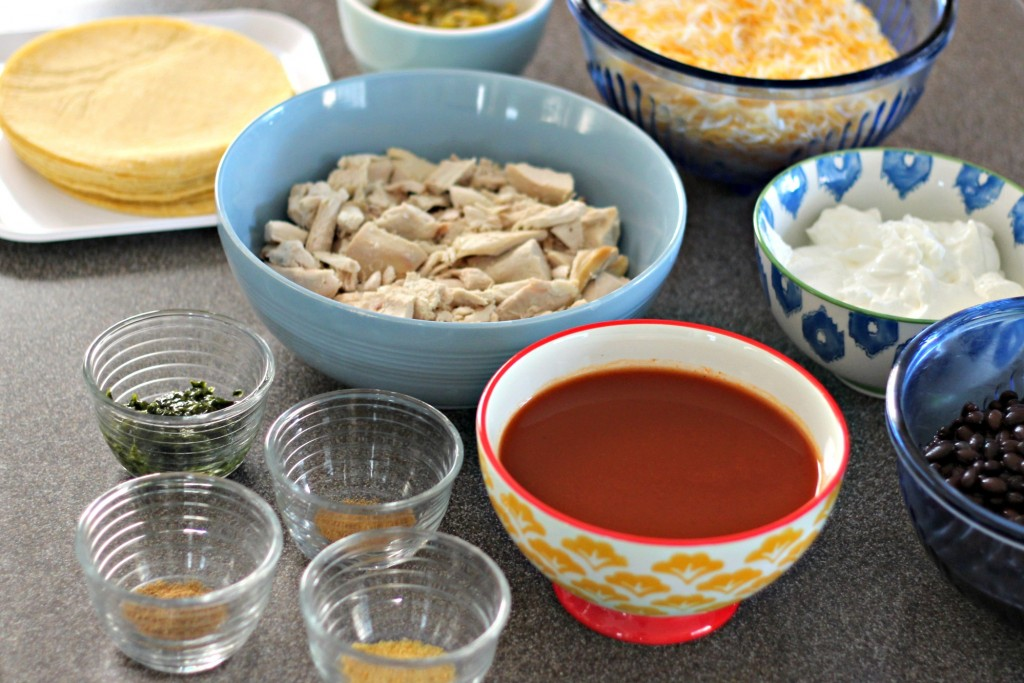 Chicken and Black Bean Enchilada Casserole ingredients